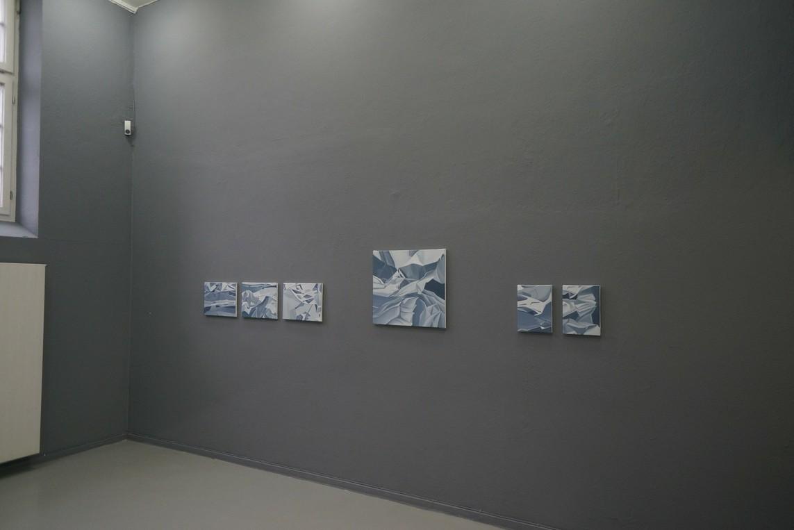 Petra Frey Serie »Papier« / Ölmalerei auf Leinwand / 2006/07