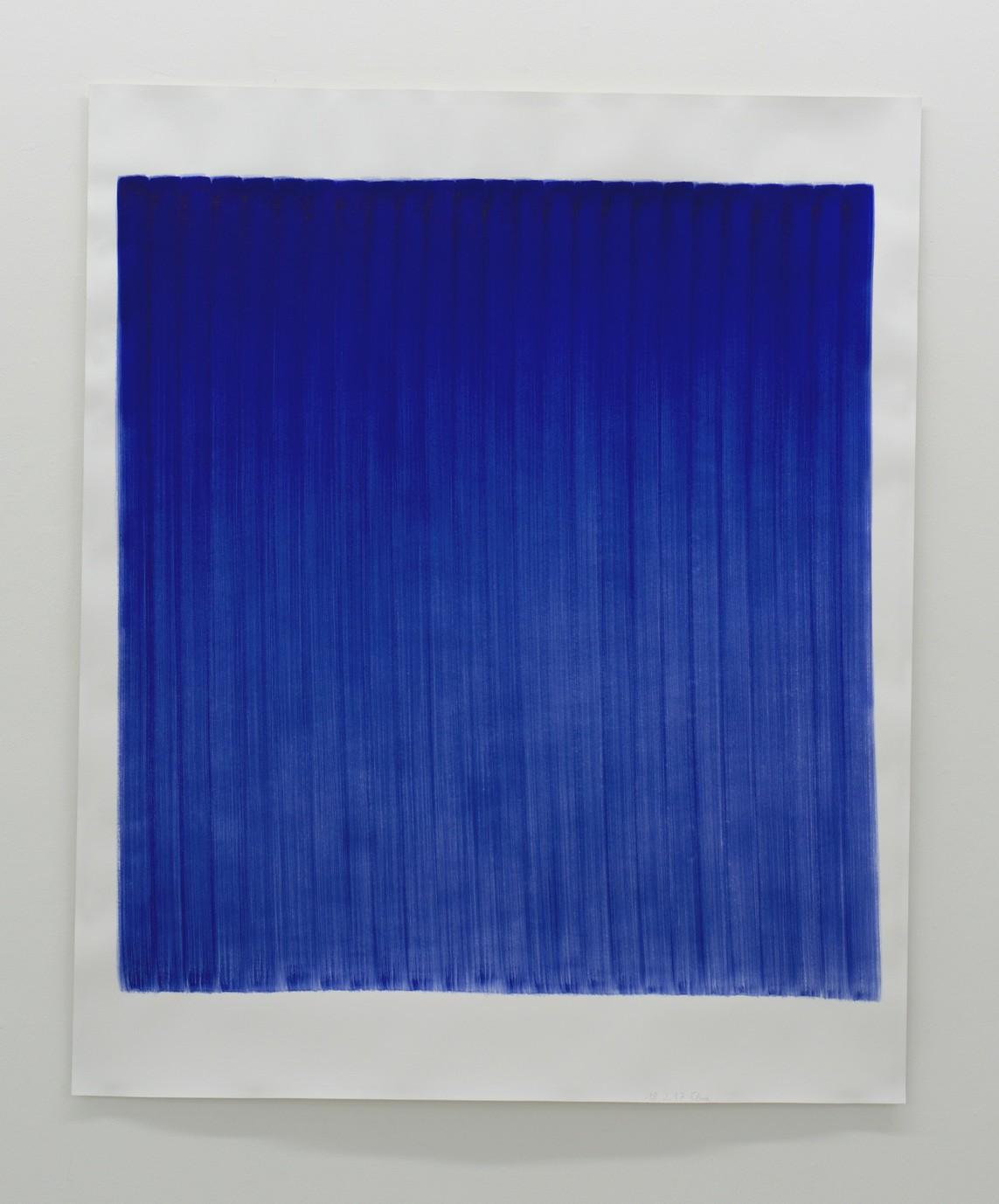 o.T. (18.2.17), Aquarell auf Papier, 2017, 184 x 152 cm