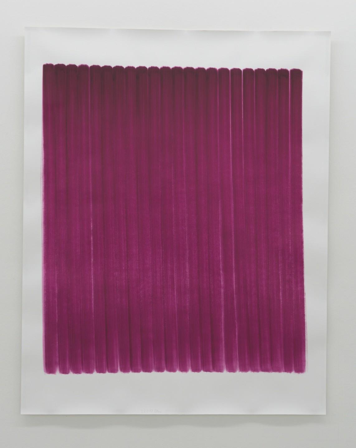 o.T. (23.1.17), Aquarell auf Papier, 2017, 192 x 152 cm
