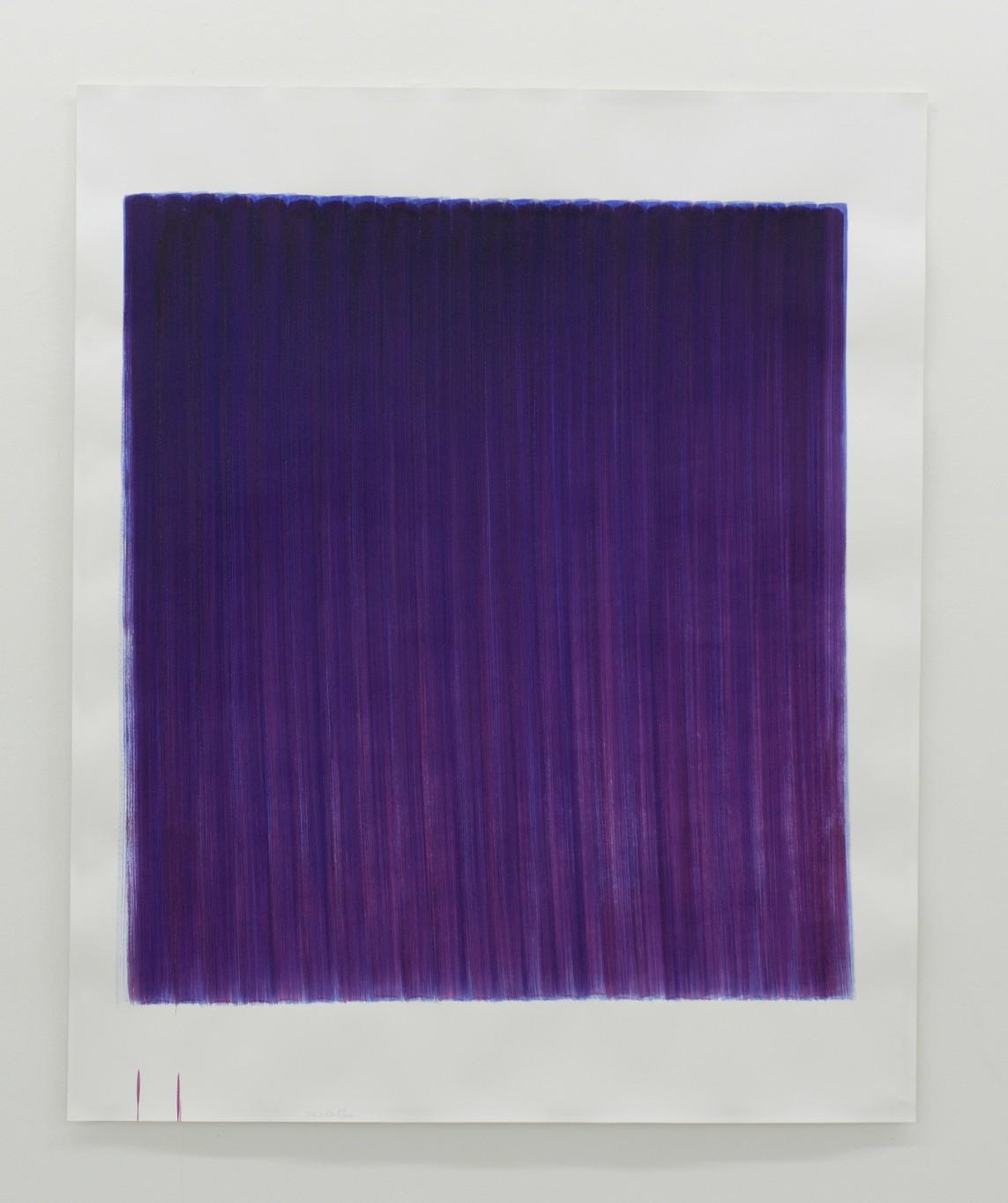 o.T. (24.2.17), Aquarell auf Papier, 2017, 185 x 152 cm