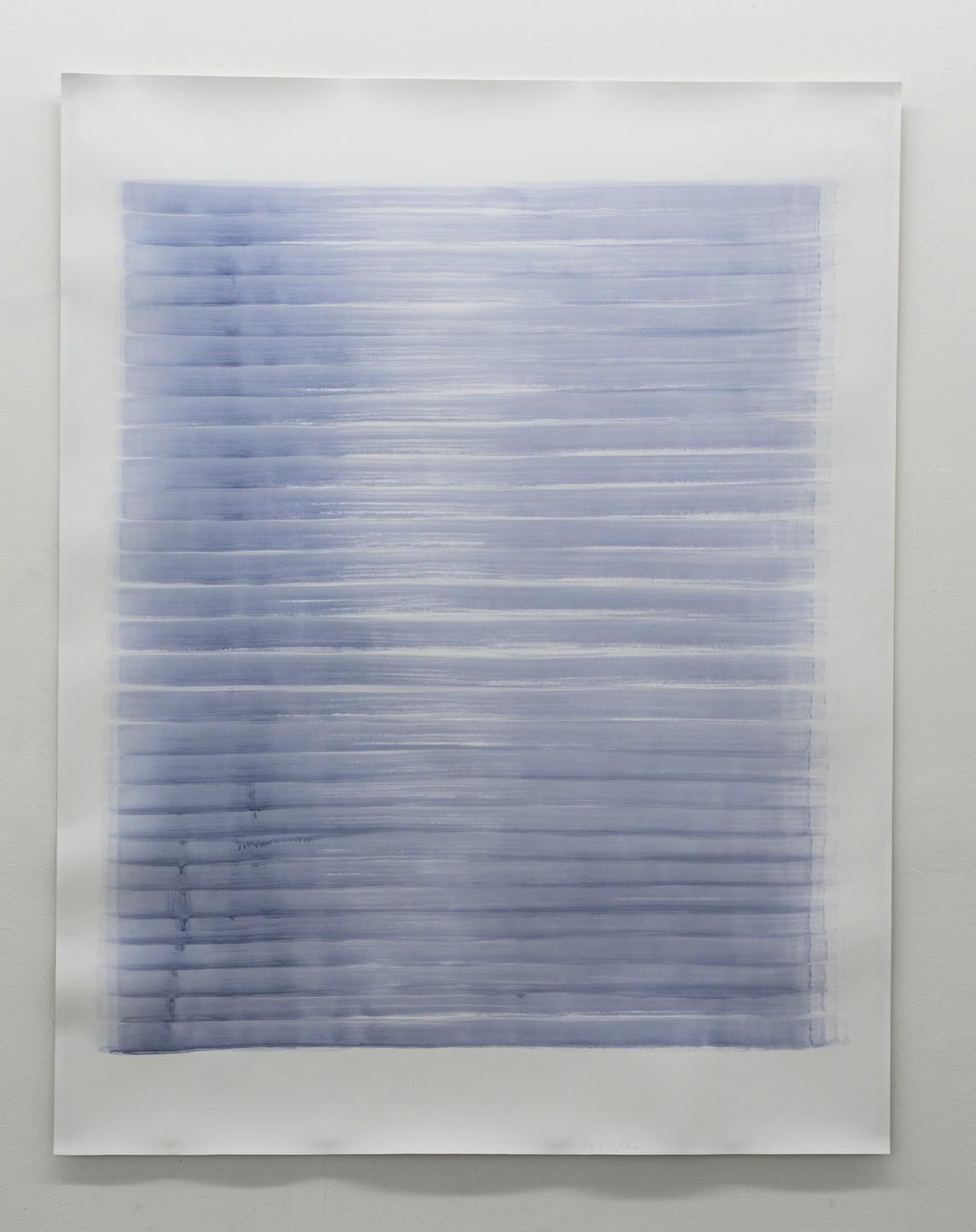 o.T. (31.1.16), Aquarell auf Papier, 2016, 195 x 152 cm