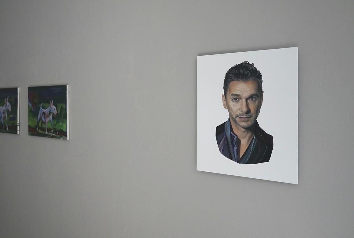 Elisabeth Bereznicki / Dave Gaham, 2020, Öl auf Aludibond, 60 × 50 cm