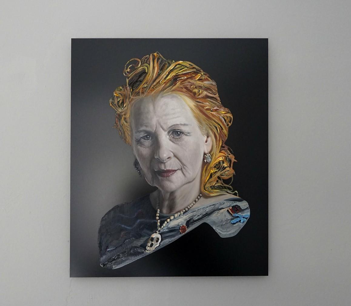 Elisabeth Bereznicki / Vivienne Westwood, 2020, Öl auf Aludibond, 60 × 50 cm