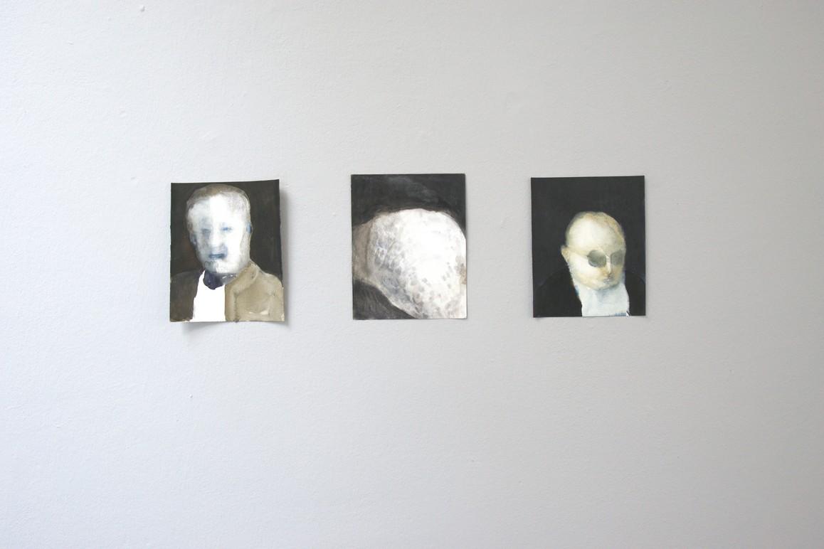 Petra Blocksdorf, o.T. 2014 - 2017, Mischtechnik auf Papier, ca. 21 x 17 cm