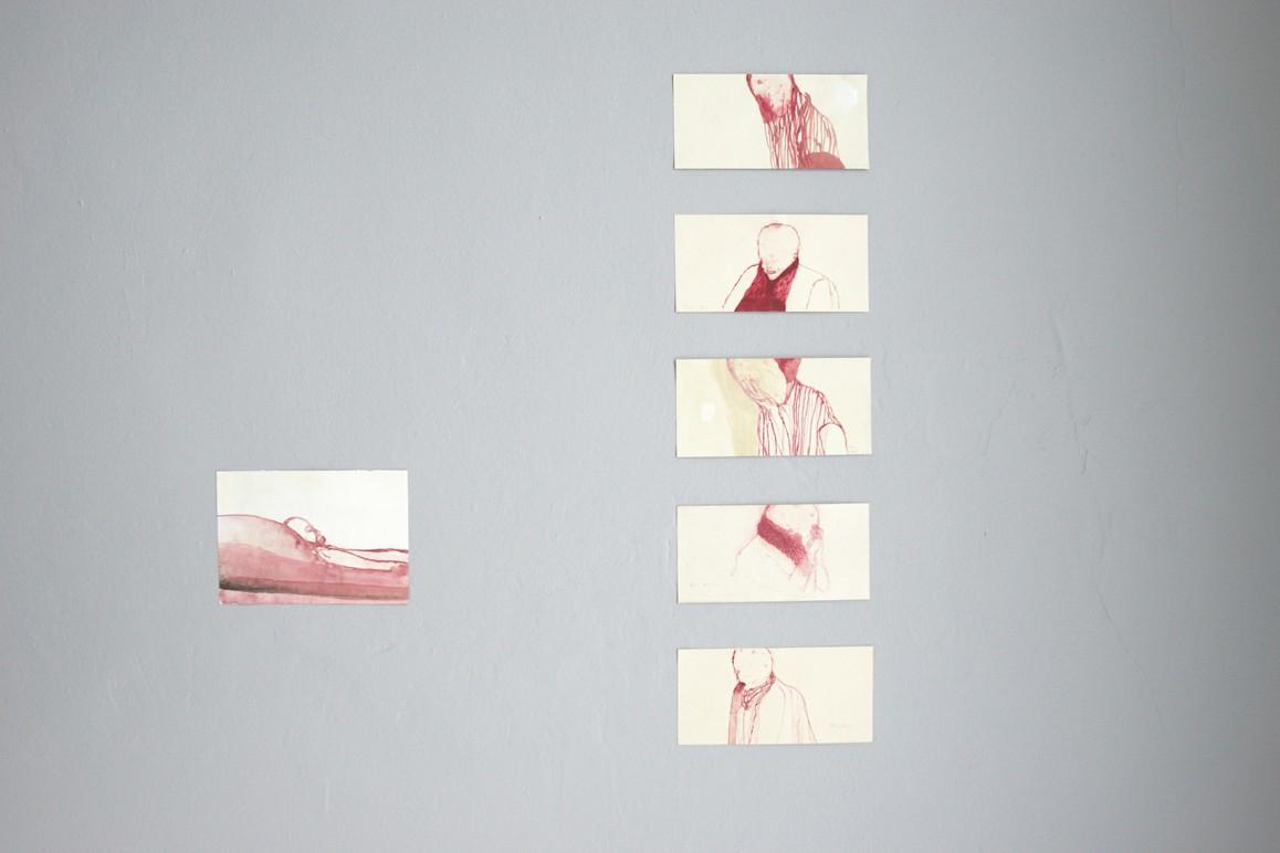 Petra Blocksdorf, o.T. 2009–11 , Aquarell auf Papier, ca. 10,5 x 21 cm / 14 x 21 cm
