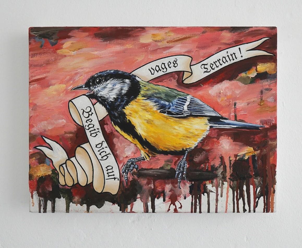 »Begib dich auf vages Terrain« 2018, Öl auf Leinwand, 30 x 40 cm