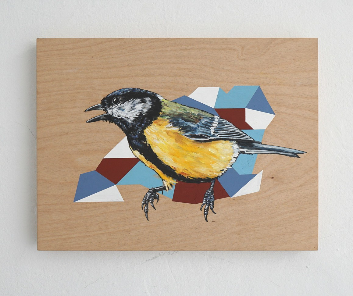 »Crossing all over« 2019, Öl und Acryl auf Holz, 30 x 40 cm