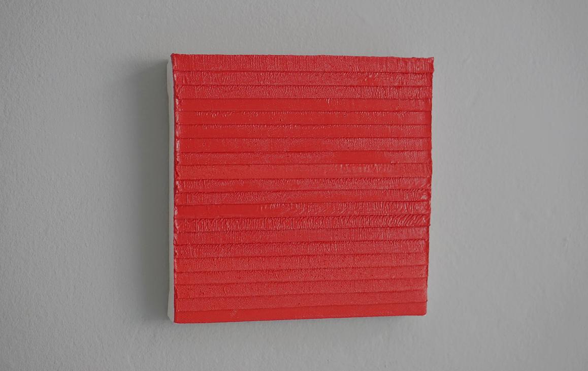 23.11.14 - 20.10.15, Öl/Lw./Holz, 20 × 20 cm