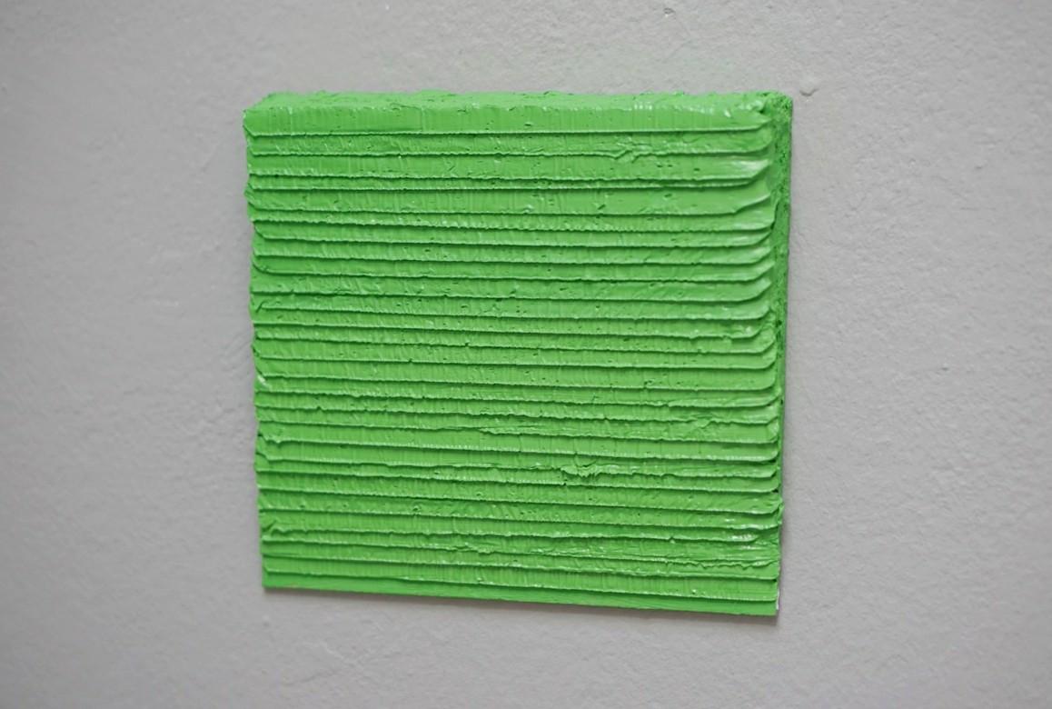 4.8.19 - 27.2.20, Öl auf Karton, 15,5 x 14,5 cm