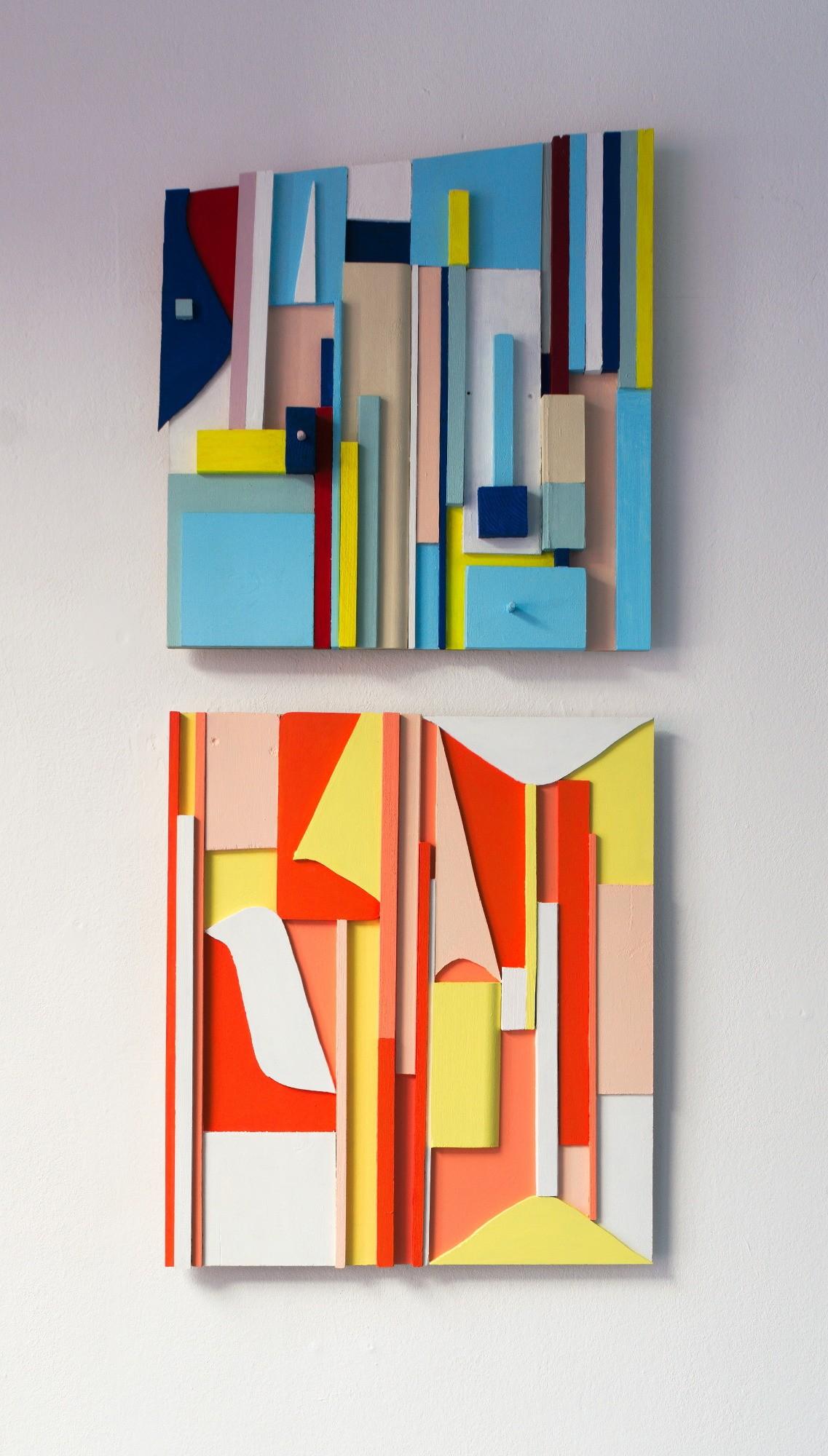 o.T. / Acrylfarbe auf Holz / 43 x 40 x 6 cm / 45,5 x 40 x 2 cm / 2015