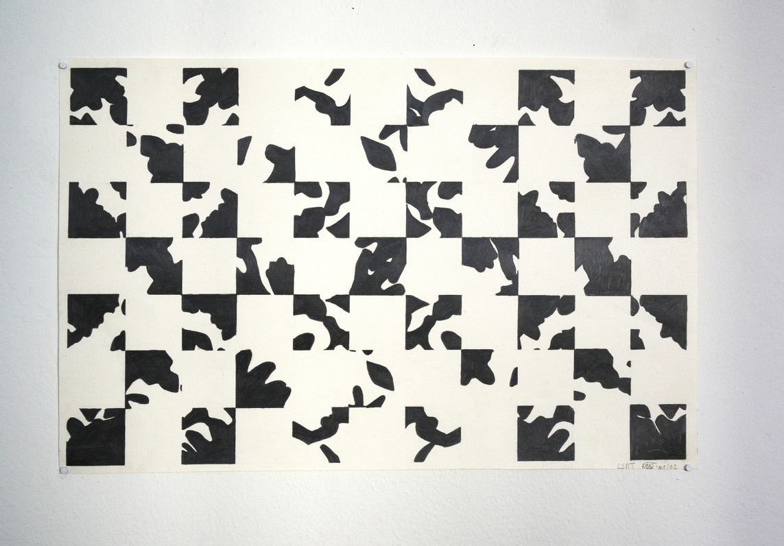 o.T. / Graphit auf Papier / 37,5 x 58 cm / 2001/02