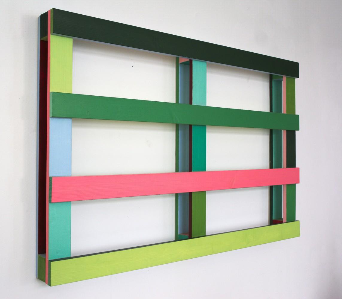 Palette / Acrylfarbe auf Holz / 80 x 120 x 11,5 cm / 2011