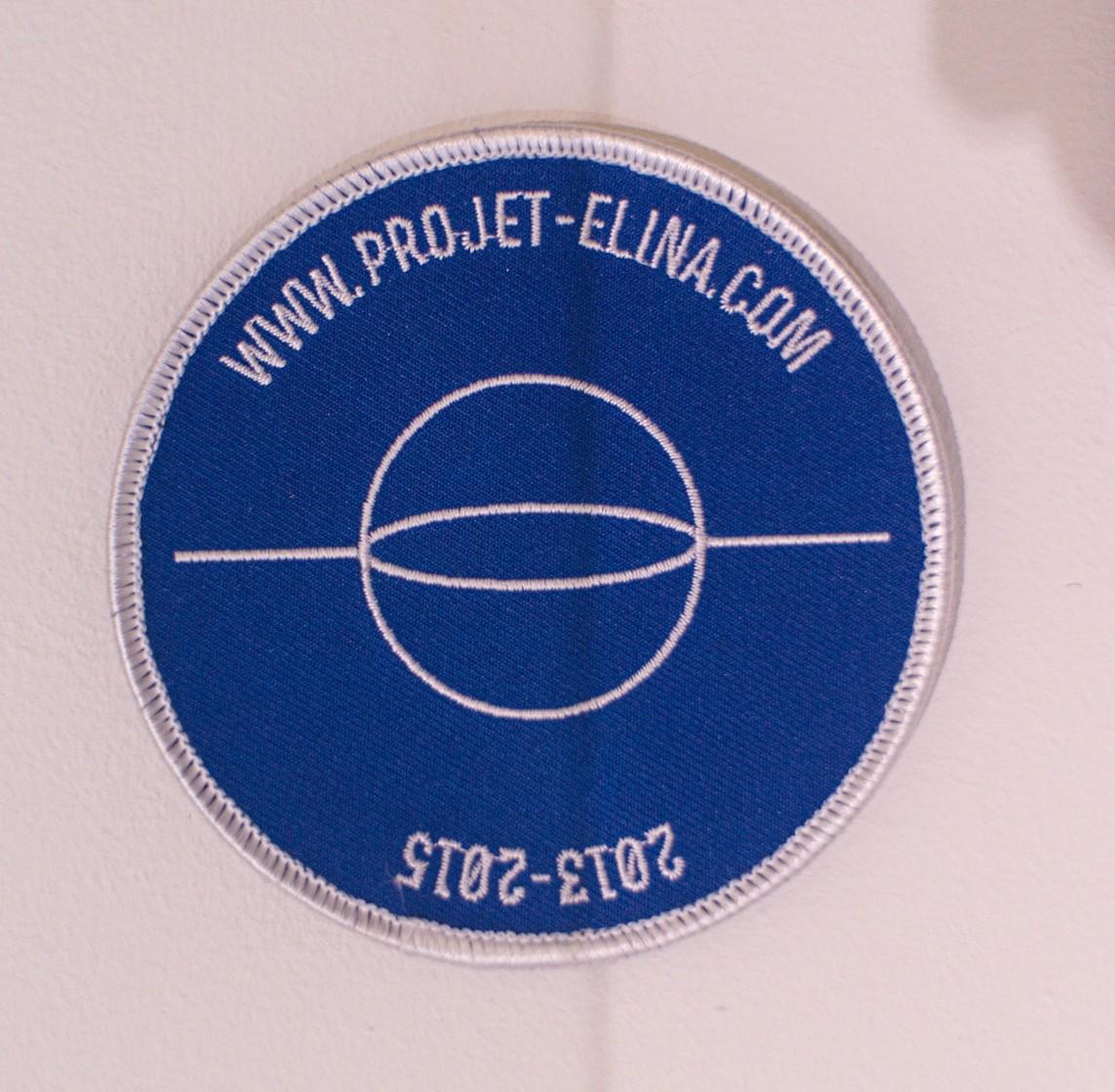 Badge »Projet Elina« – Baumwolle / 10 cm ø / 2015