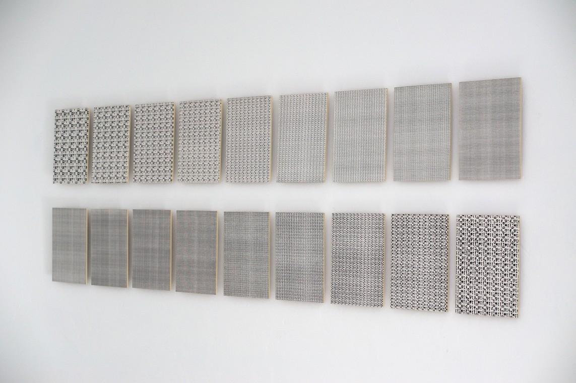 Nikolaus Heyduck: »Glaszeichen« / Fotokopie-Serie, 18-teilig / je 29,7 x 21 cm / 2005