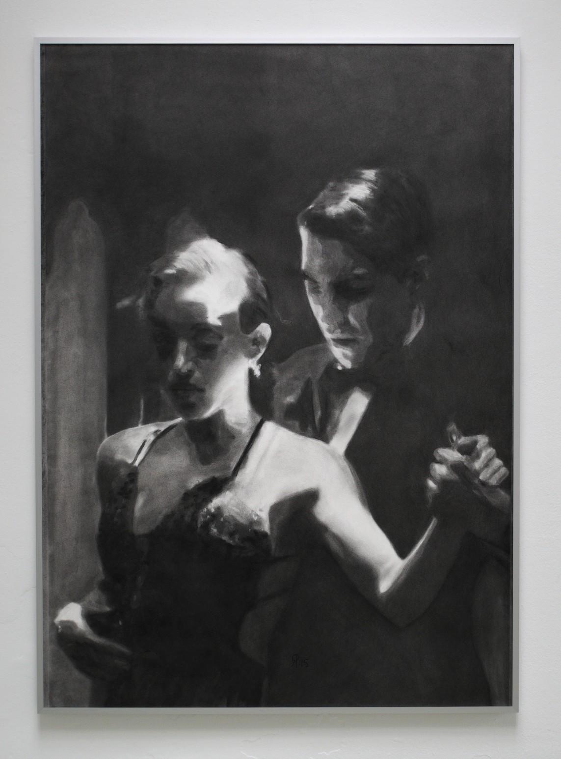 »Lissabon« / Kohle auf Büttenpapier, 140 x 100 cm, 2015