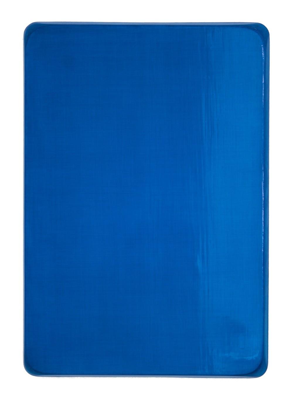 o.T. / Heliocoelinblau, Ultramarinfeinst, Aquarell auf Gips und Medium, 35 x 25 cm, 2008