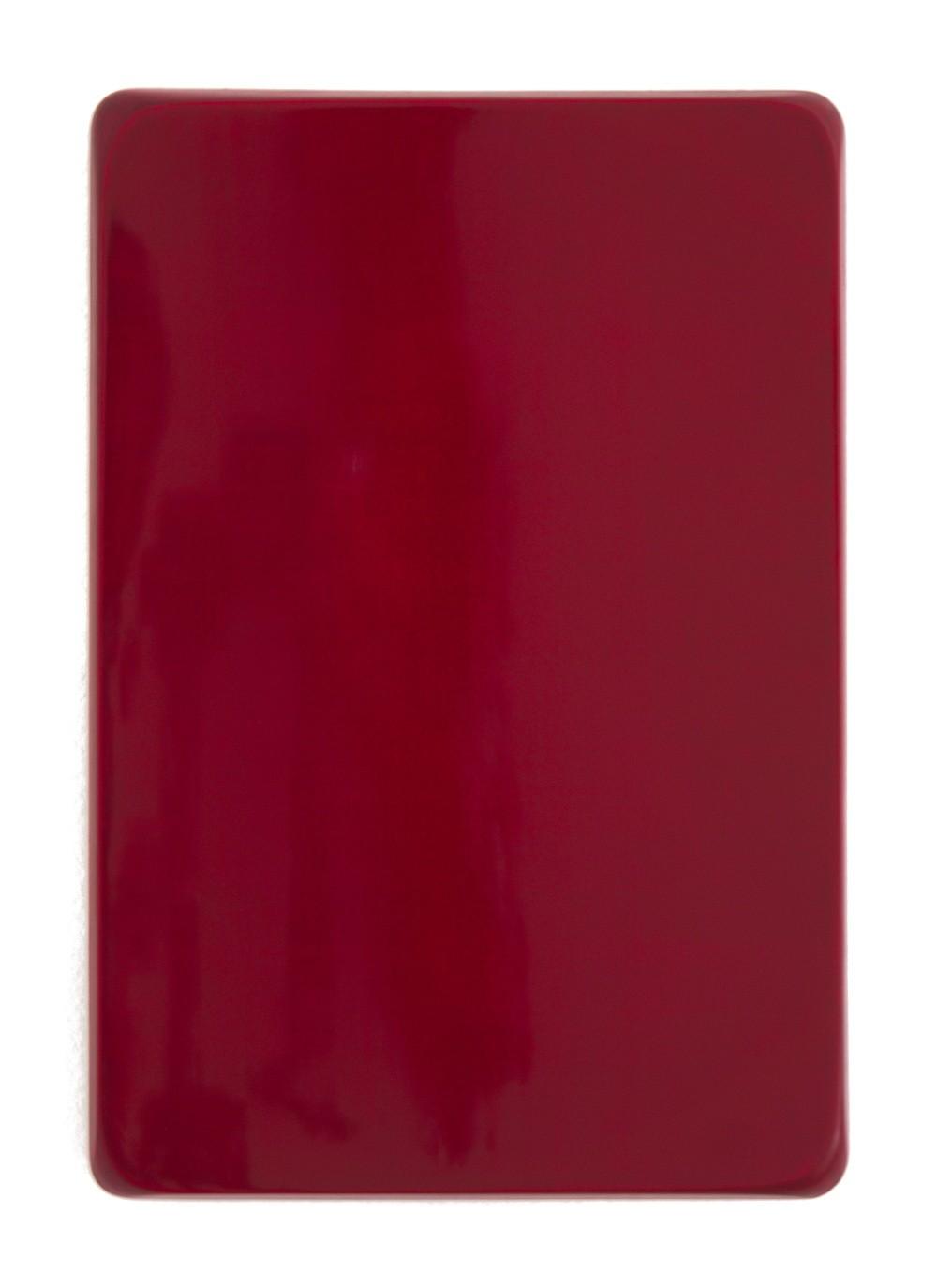 o.T. / Neutralgrau, Alizarin- Karmesin, Chinacridonviolett, Rubinrot, Aquarell auf Gips und Medium, 35 x 25 cm, 2013