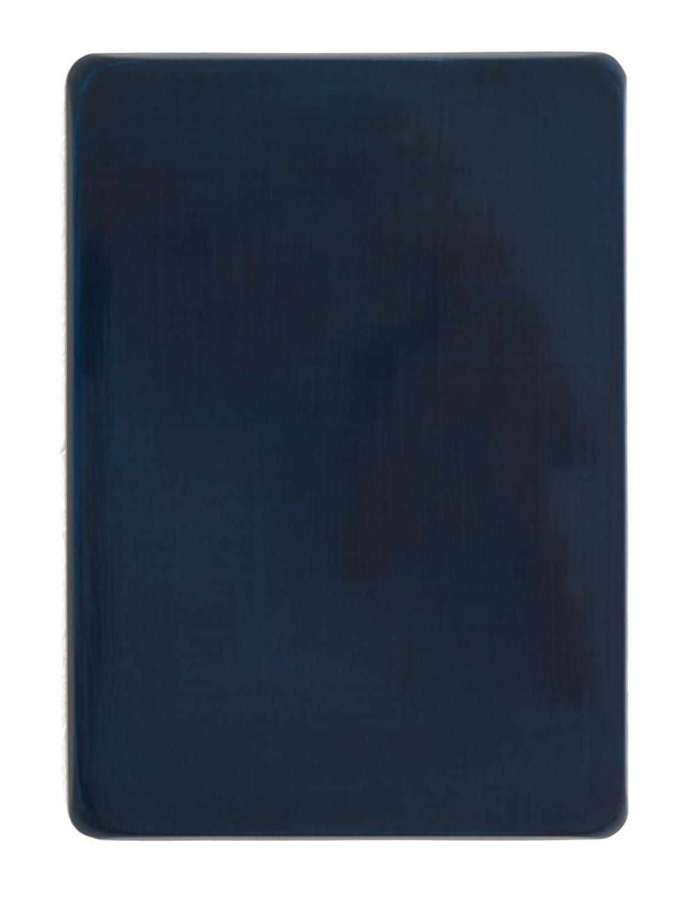 o.T. / Neutralgrau, Helioceolinblau, Aquarell auf Gips und Medium, 35 x 25 cm, 2008