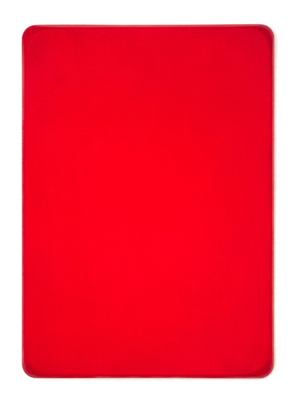 o.T. / Permanentrot, Aquarell auf Gips und Medium, 35 x 25 cm, 2016
