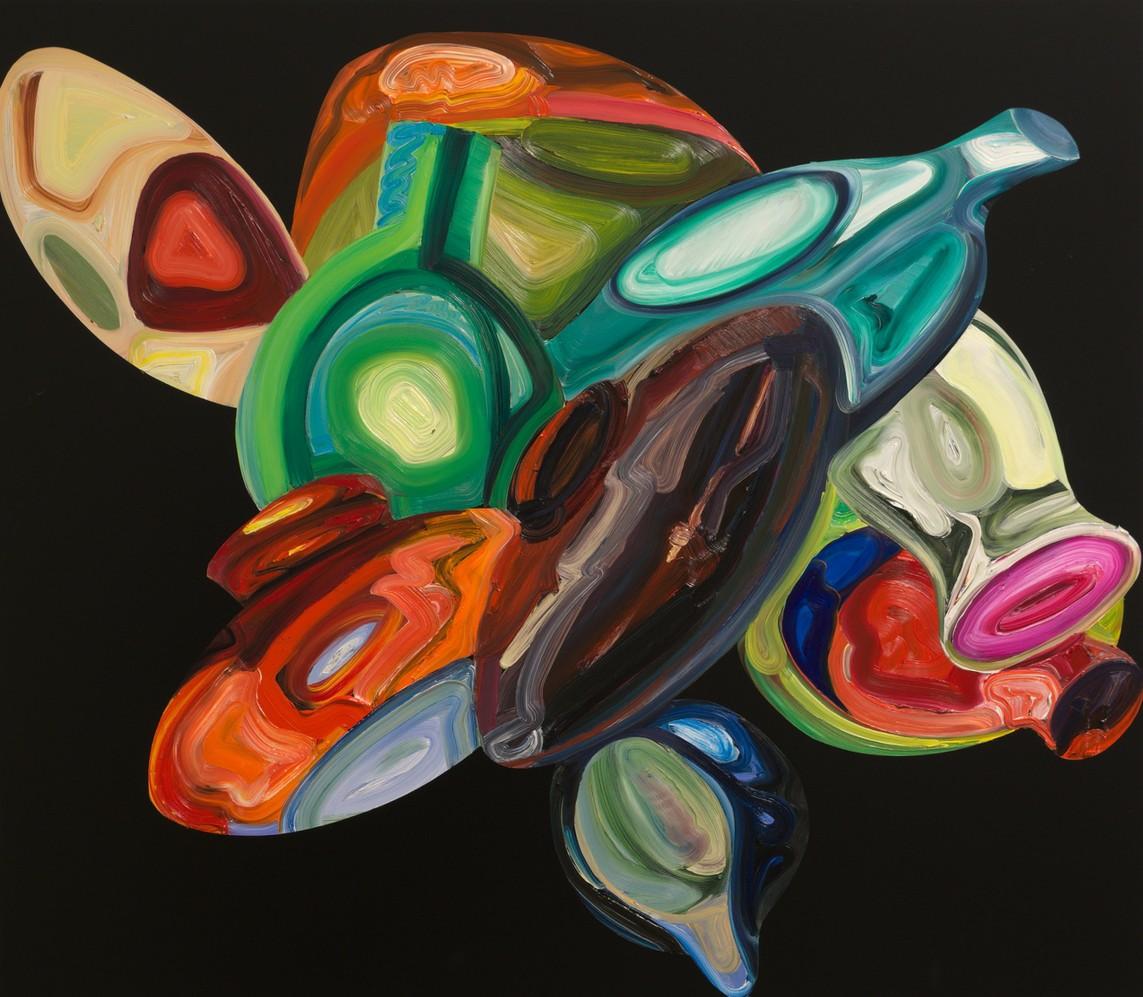 »Compound« Öl auf Aludibond, 70 x 80 cm, 2016