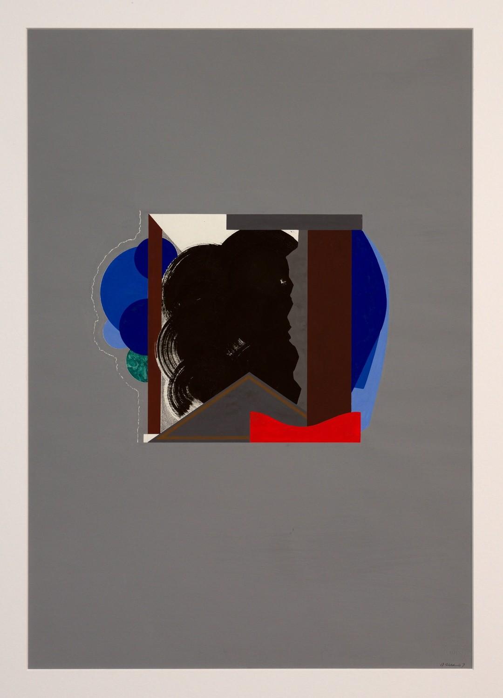 »Haus« Gouache auf Papier, 73,2 x 51,2 cm, 1967