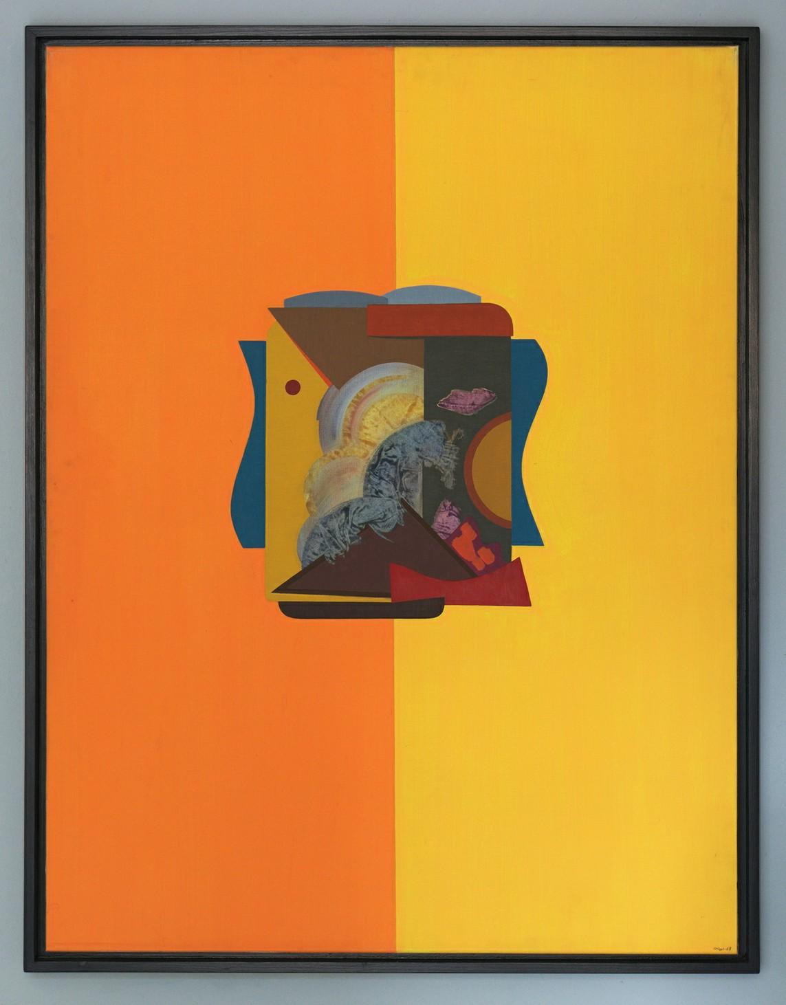»HAUS (Positivist)« Öl auf Leinwand, 116,5 x 89,5 cm, 1967