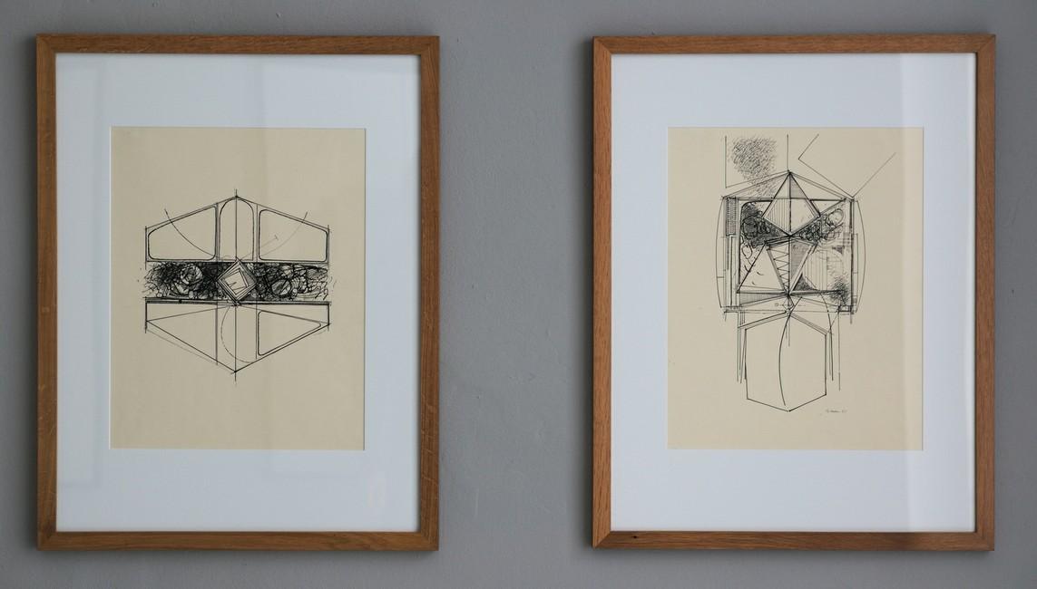 o.T., Feder-Tusche auf Papier, 44 x 35 cm, 1965 // o.T., Feder-Tusche auf Papier, 44 x 35 cm, 1965