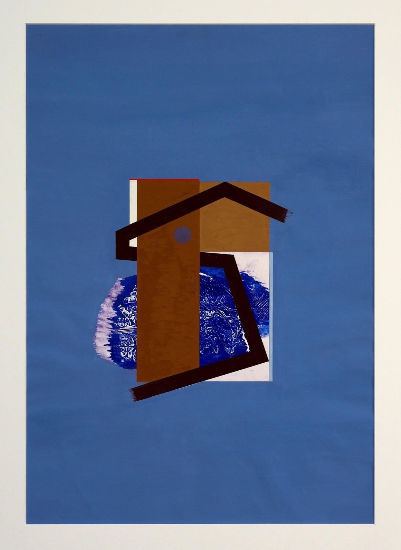 o.T., Gouache auf Papier, 73,2 x 51,2 cm, 1967