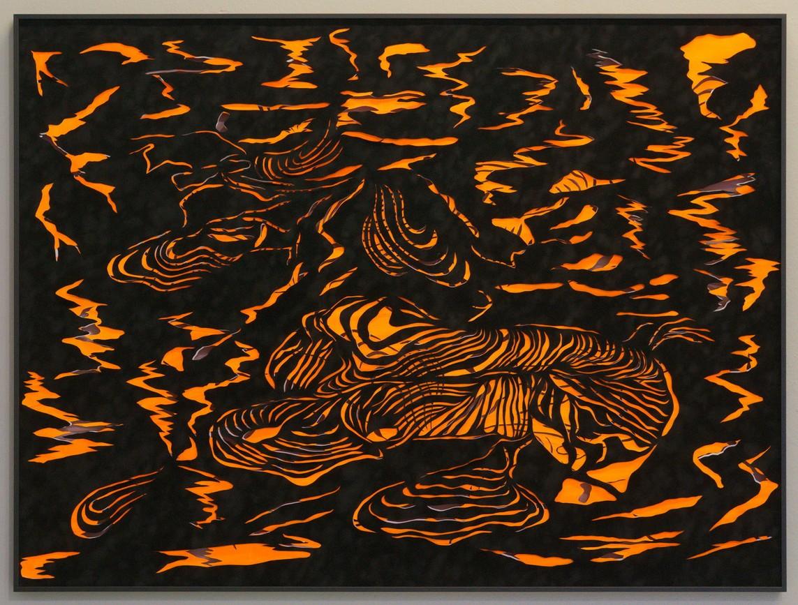 Bettina Bosch – o.T. / Papierschnitt, 94 x 125 cm, 2016
