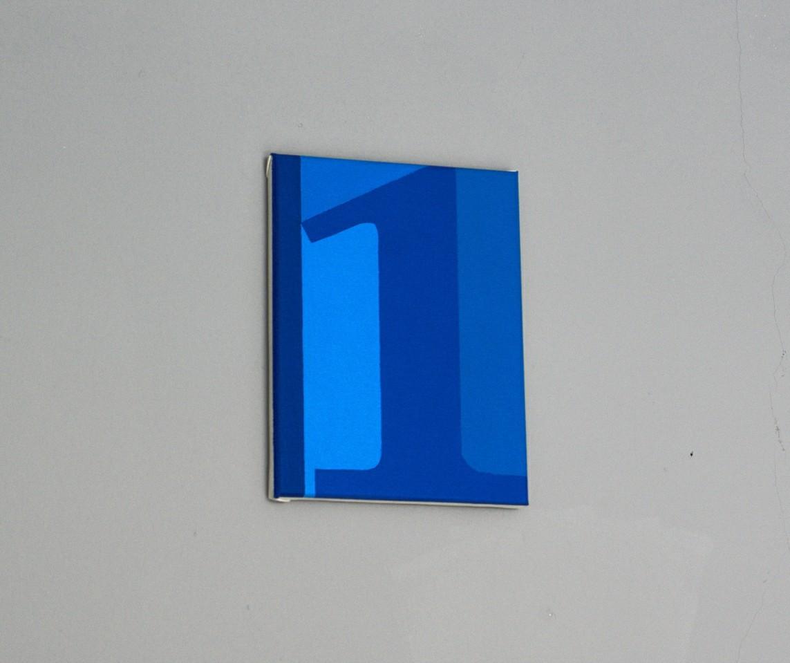 BriGitte Rost – Die 1 ist keine Primzahl / Acryl auf Leinwand, 44 x 35 cm, 2016