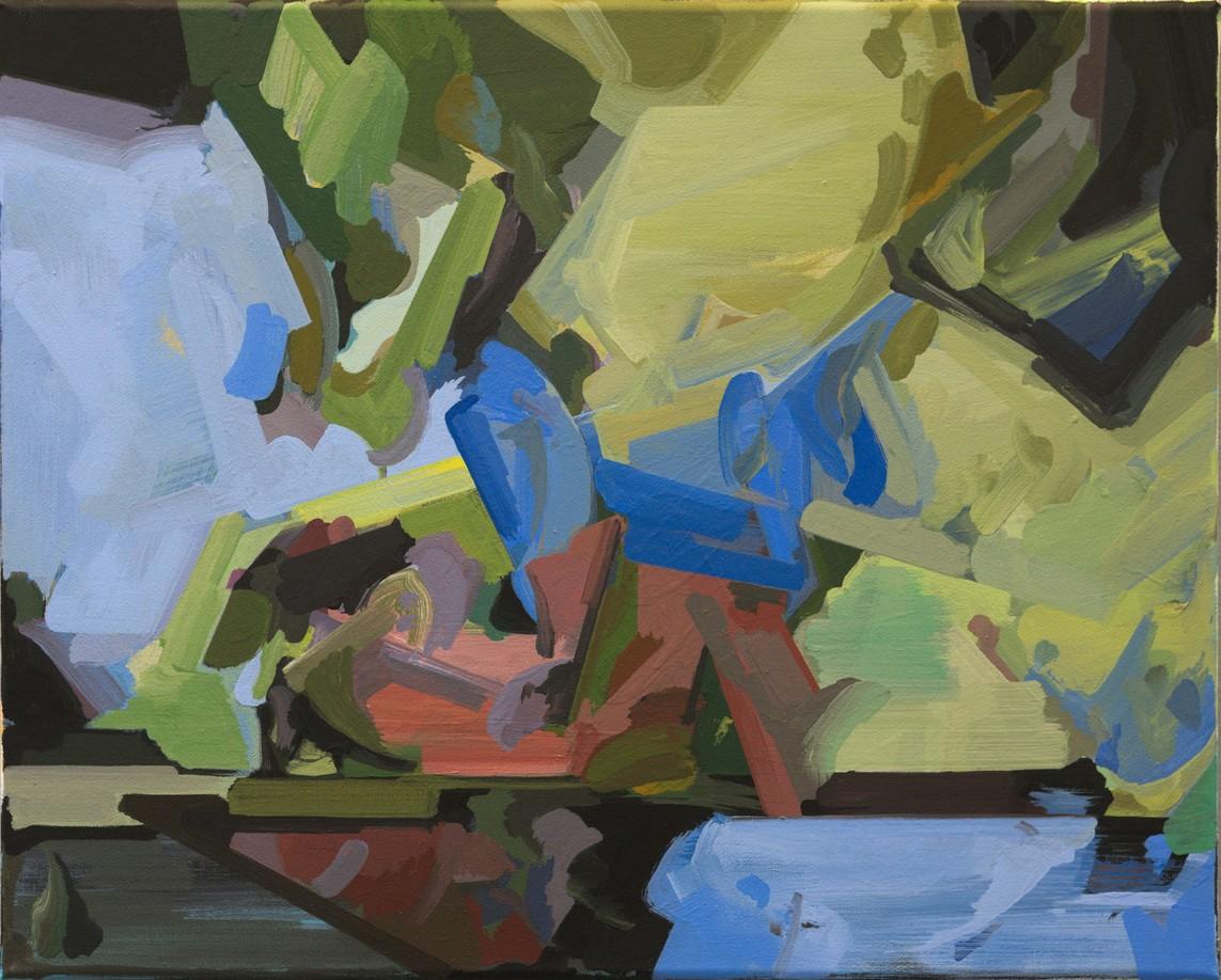Henning Grießbach – o.T. / Öl auf Leinwand, 40 x 50 cm, 2016