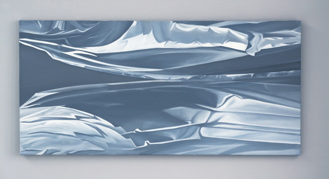 Petra Frey – Spiegelung / Öl auf Leinwand, 45 x 95 cm, 2001/02