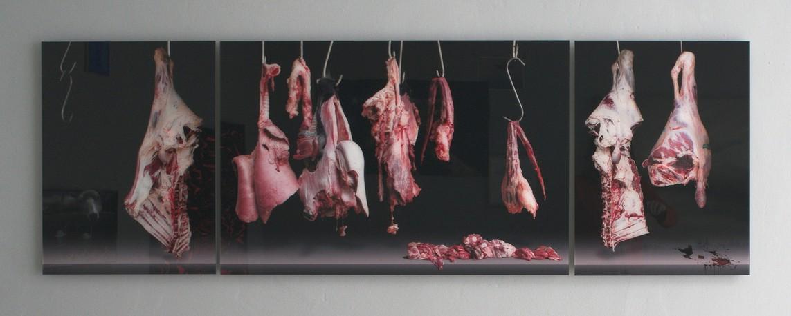 Piotr Iwicki – Flesh / Diasec, Triptychon, 67,4 x 50/100/50 cm, 2013
