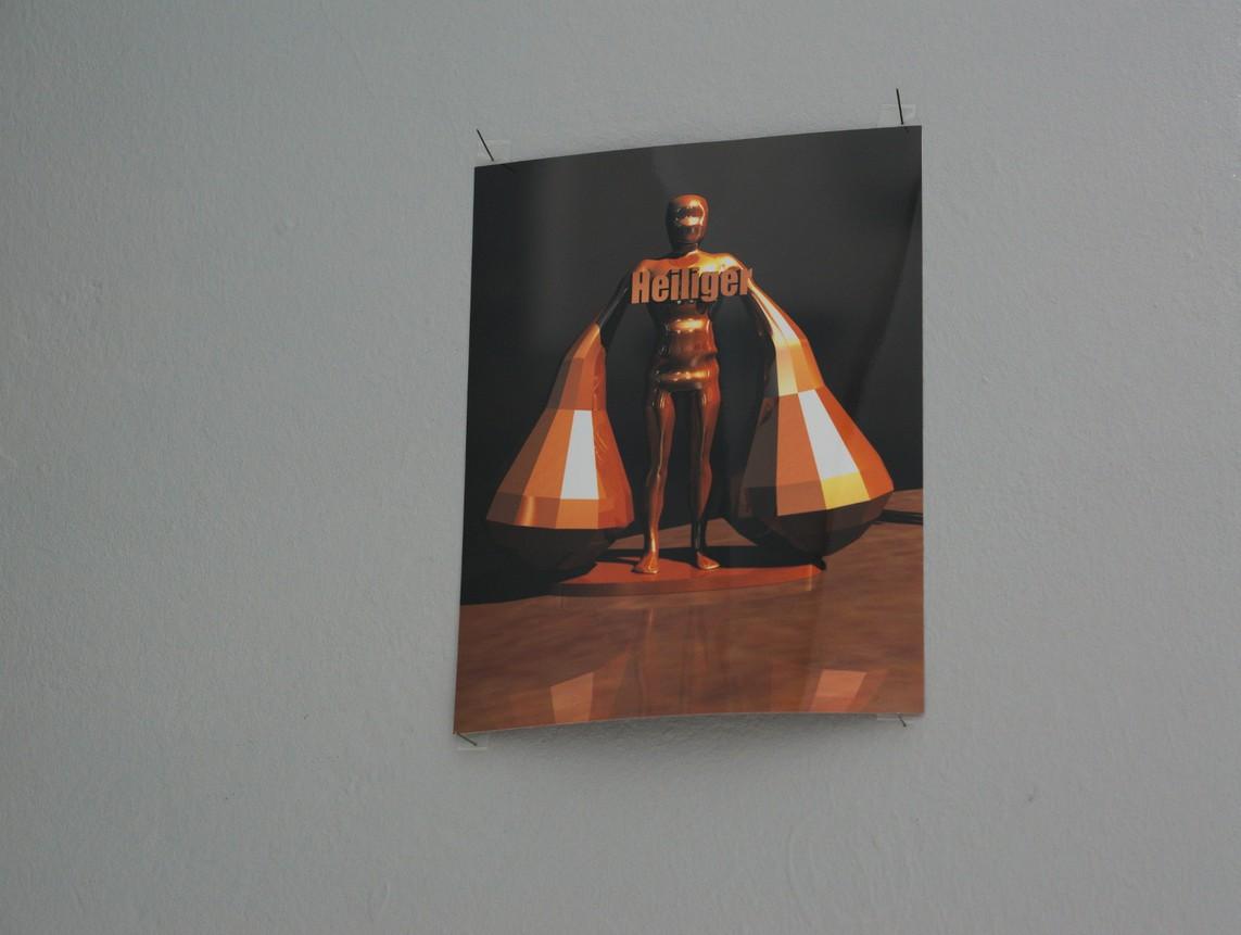Tobias Eder – Heiliger / Rendering-Ausdruck, Auflage 5, 26 x 20 cm, 2015