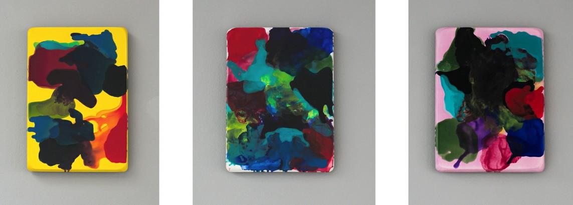 Werner Windisch – o.T. / Acryl auf Gips, je 35 x 25 cm, 2016