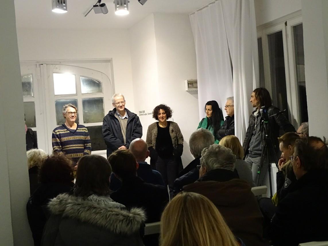 Eröffnung mit Freddy Paul Grunert, Tobias Eder und Cristina Fiordimela