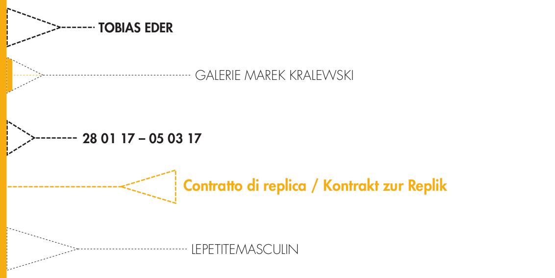 X32. TOBIAS EDER: Contratto di replica / Kontrakt zur Replik
