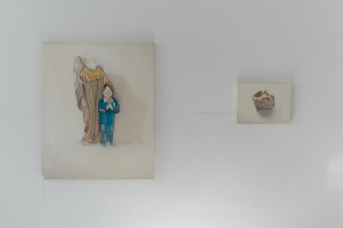 »Angel« Öl auf Leinwand, 2-teilig, 100 x 80 cm, 30 x 40 cm, 2017