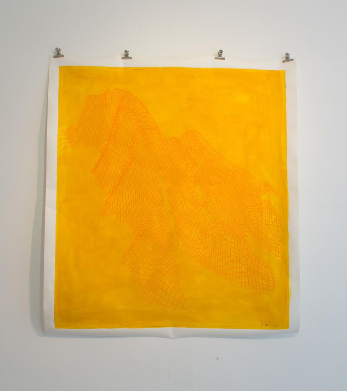 »Die drei Belchen (Belchen)« Papier, Acryl, 2017, 170 x 150 cm