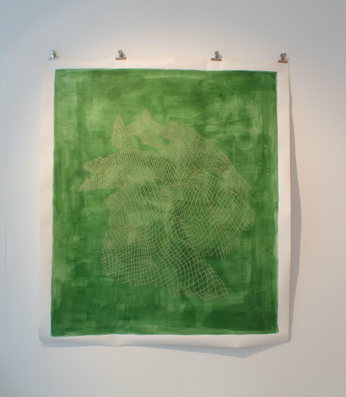 »Die drei Belchen (Belchenflue)« Papier, Acryl, 2017, 170 x 150 cm