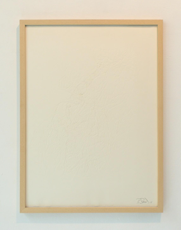 »Strukturdruck« Prägedruck auf Büttenpapier, 2017, 70 x 50 cm