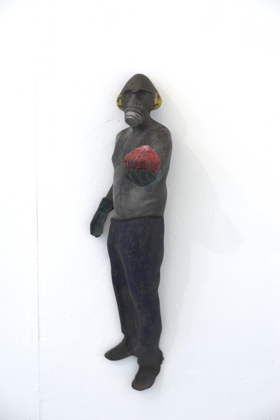 »Ganesha«, 2017, Beton/Gravur/Akepox/Pigmente, 80 x 23 x 20 cm