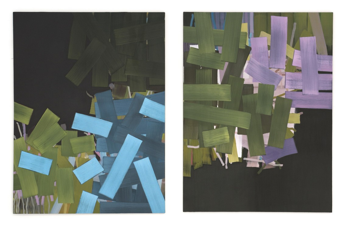 »Merlom« 2017, Öl auf Leinwand, 160 x 120 cm   »Stinem« 2017, Öl auf Leinwand, 160 x 120 cm
