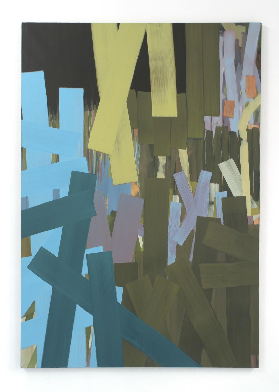 »Uhsinn« 2018, Öl auf Leinwand, 180 x 125 cm