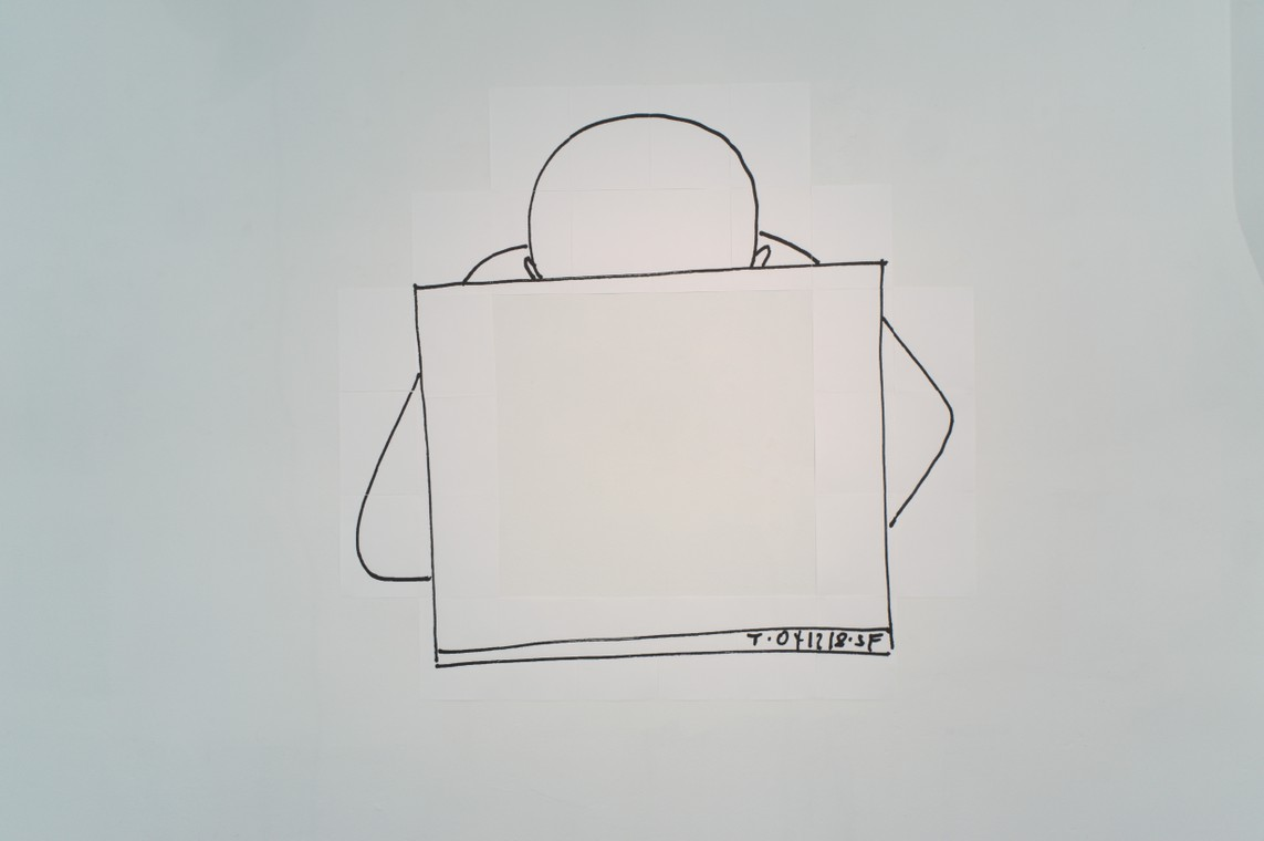 meta_dude / 2018, Inkjet auf Letter-Size Papier, 173 x 167 cm