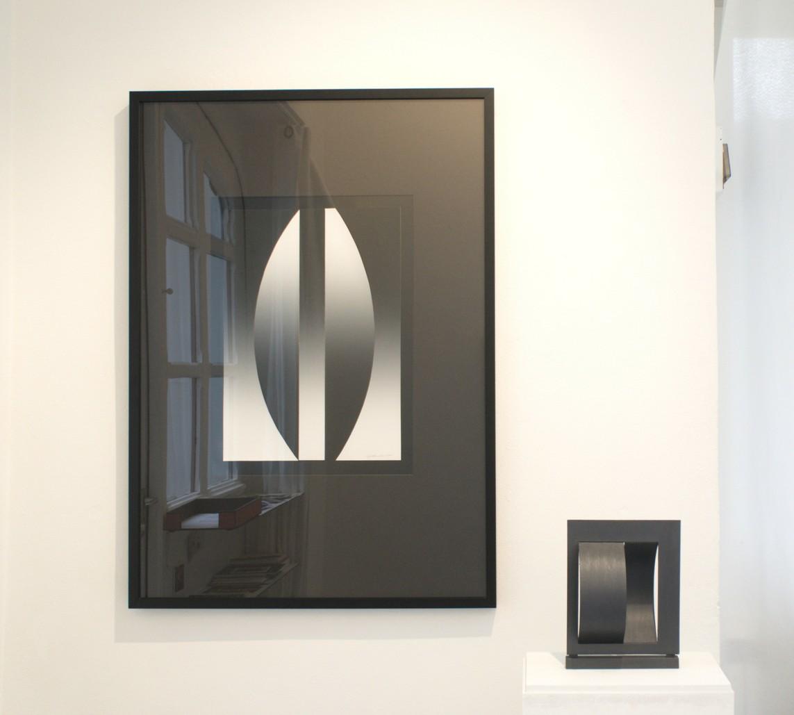 Przedmiot optyczny (Optisches Objekt), 1994, Papier, Collage, 55 x 40 cm