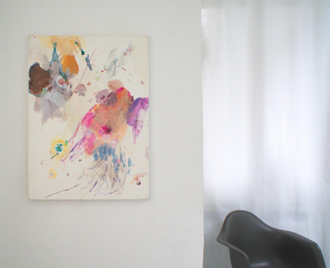 OT Nr. 06, 2016, Mischtechnik auf Leinwand, 95 x 70 cm