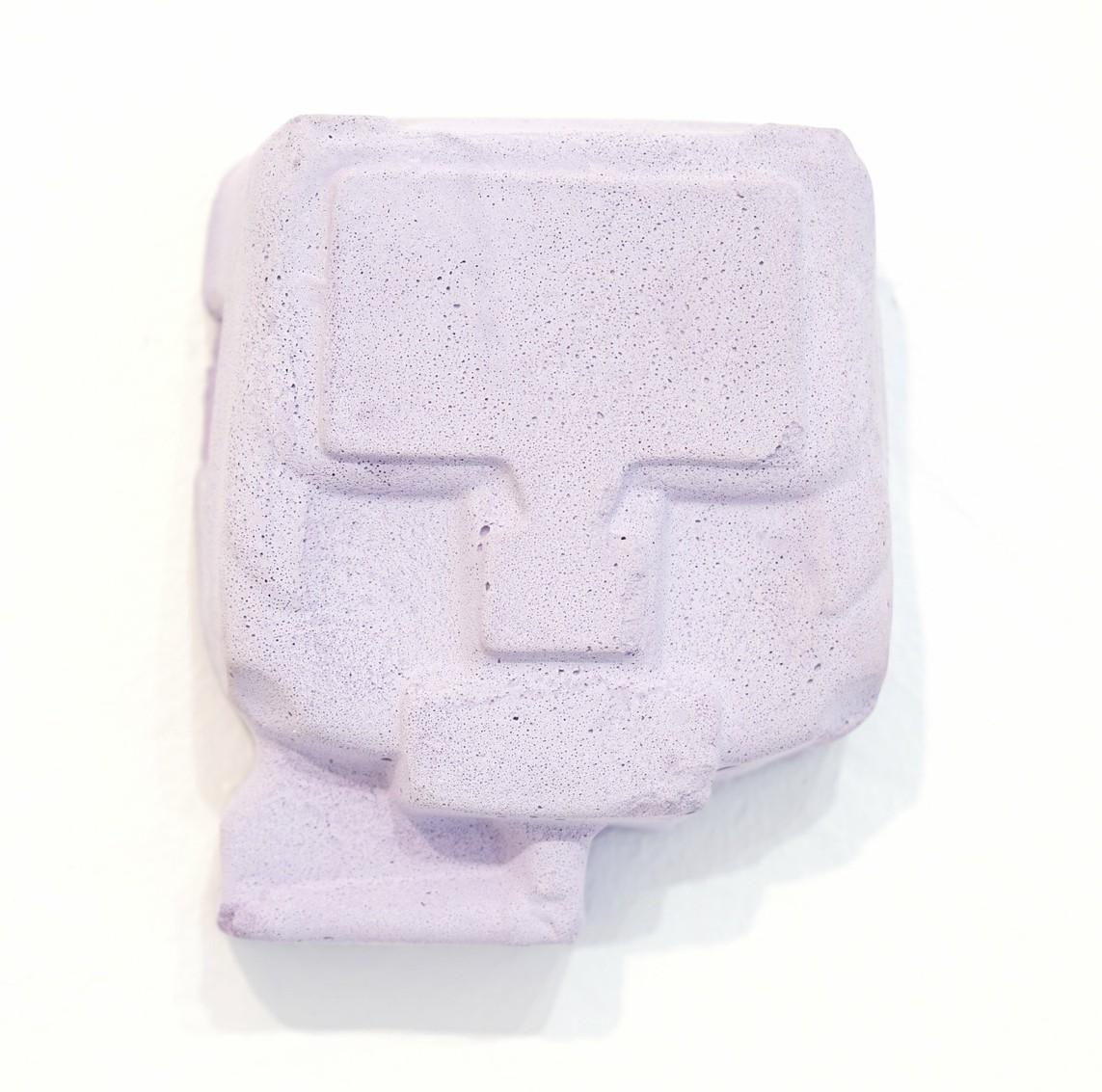 Umverpackung 20, 2018, Beton, Lack, Pigment, 13,5 x 16,5 x 6 cm