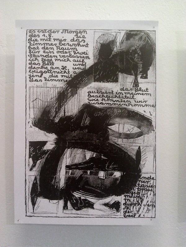 Manuskriptseite, Fotokopie, 29,7 cm x 21,0 cm