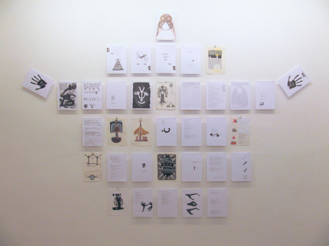 Buchseitenwand I, Mixed Media, Maße variabel, 2013